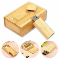 4G Wooden USB 2.0 Flash Pen Drive Memory Stick Bamboo U Disk + Wood Case Box New
