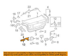 Lexus TOYOTA OEM 07-12 LS460 Trunk Lid-Switch 8484021010