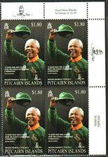 RUGBY NELSON MANDELA HALL OF FAME SPRINGBOK JERSEY BLOCK MNH