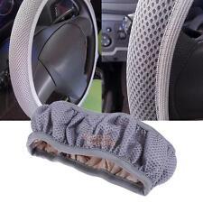 Breathable Anti-slip Auto Car Handbrake Steering Wheel Cover Cars Steering Gray