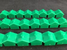 Monopoly Replacement Houses Green Lot of 24 Pieces Plastic Craft Art