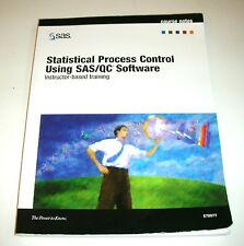 Statistical Process Control Using SAS/QC Software, Instructor-based Training