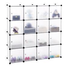 Songmics Cubes/étagère de Rangement Blanc modulables plastiques Cadre en Métal L