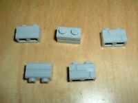 Lego | 5 x Light Bluish Gray 1x2 Masonry Bricks | 98283