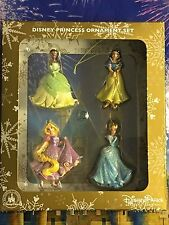 4 PC PRINCESS ORNAMENT SET Disney TIANA SNOW WHITE RAPUNZEL CINDERELLA