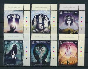 Alderney  The 1819 Odes in ** Postfrisch, 6 Werte