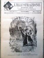 L'illustrazione Popolare 15 Febbraio 1891 Crispi Mascagni Astronomia Duomo Polo
