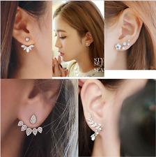 5Pc/Set Fashion Women Flower Crystal Rhinestone Ear Stud Earrings Jewelry Gift
