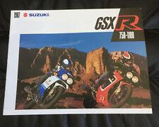 1987 SUZUKI GSX-R750 GSX-R1100 ORIGINAL DEALER SALES BROCHURE GSXR 750 1100 RARE