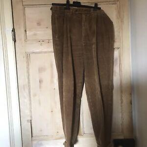 Vintage St Michael Mens Bronze Turn up Corduroy Cord Trousers W34 L29