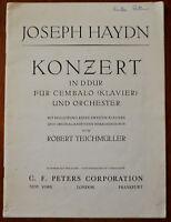 Joseph Haydn Konzert In D Dur Fur Cembalo <Klavier> Und Orchester – Pub.1931