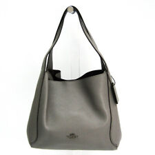 Coach Hadley Hobo 28 79965 Women's Leather Shoulder Bag Dark Gray BF517113