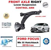 FRONT AXLE RIGHT Lower WISHBONE ARM for FORD FOCUS Mk III Hatchback 2010->on