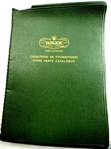 Original 1950's Rolex Spare Parts Catalogue 106 pages with Folio Binder