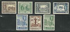 Jamaica: Scott 129 - 135 hinged new constitution 1944. JA32