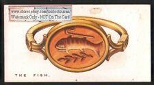 Fish As A Spiritual Talisman Charm  Original 1920s Trade Card