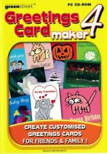Greeting Card Maker 4 - Design Create Printing Software - PC CD-ROM (Brand New)