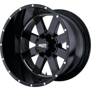 4 - 18x10 Black Moto Metal MO962 Rim 8x6.5 (8x165.1) -24 Offset MO96281080324N