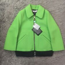 NWT CP Company Wool Blend Jacket Bright Green Zip Up Structured IT Sz 40 US 4