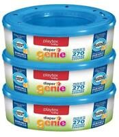 3x Playtex Diaper Genie 270 count  Refill cassettes(Total of 810)