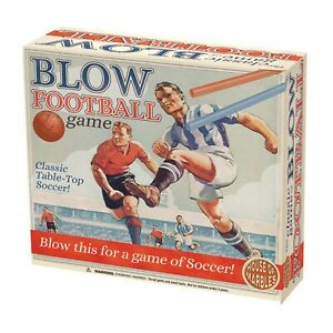 VINTAGE 1940S STYLE BLOW FOOTBALL GAME BRAND NEW TABLE TOP SOCCER