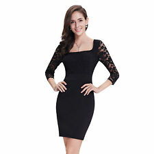 Lace Square Neck Long Sleeve Dresses for Women