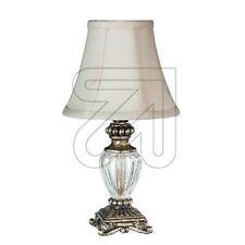 Glas weiss rostfarbig Tischlampe im Antik-Look E14 Höhe 51 cm