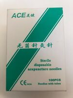 Ace acupuncture sterile needles , disposable,single pack with tubes, extra sharp
