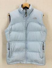 North Face 600 Light Blue Puffer Parka Vest Girls XL Womens Small