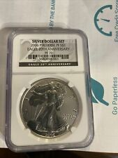 2006 P REVERSE PROOF AMERICAN SILVER EAGLE 20TH ANNIVERSARY SET NGC PF 70