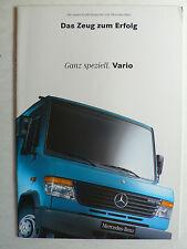 Prospekt Mercedes-Benz Vario – die neuen Großtransporter, 8.1996, 20 Seiten