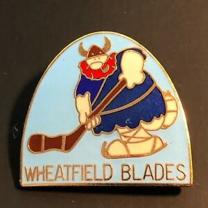 Vintage Wheatfield Blades New York Hockey Pin Hockey Association Viking Enamel
