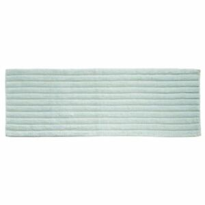 "mDesign Soft 100% Cotton X-Long Accent Rug Mat/Runner, Ribbed, 60"" x 21"" - Water"