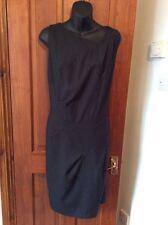 Gorgeous JASPER CONRAN Pinstripe Shift Dress DESIGNER UK 16 Asymmetric