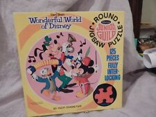 Vintage Disney Whitman Junior Guild Round Jigsaw Puzzle