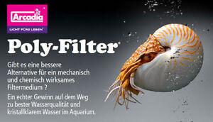 Arcadia Poly Filter Aquaristik Neuheit 30 x 30 cm Filterpad Polyfilter