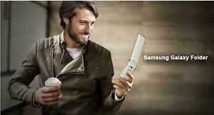 "Android Samsung Galaxy Folder SM-G1600 Golden 2G RAM 16GB ROM 3.8"" Flip Phone"