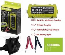 3.5A Grundig Smart Battery charger Conditioner 6V 12V BIKE QUAD KIT CAR JET SKI