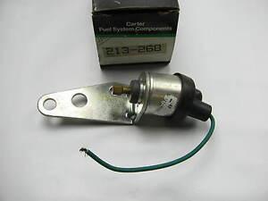 Carter 213-268 Idle Stop Solenoid - GM 4.3L V6 & 5.7L V8 DIESEL CARS ES118