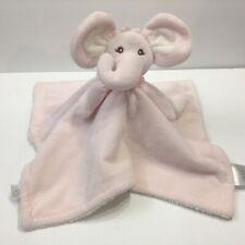 Piccolo Bambino Pink Elephant Security Blanket Lovey Plush Sherpa
