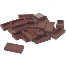 Lego 50 New Reddish Brown Tile 1x2 / Smooth Finishing Floor Tiles Bulk Parts Lot