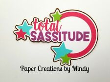 CRAFTECAFE MINDY Girl SASSY diecut premade paper piecing scrapbook title