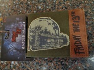 """Friday the 13th Camp Crystal Lake Bifold Wallet 4.75"""" X 3.25"""" NWT Jason Voorhees"""