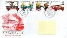 GB-Primer Día Cubierta Fdc-Commems -1974 - servicio de bomberos-PMK pb