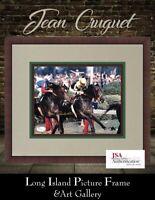 Jean Cruguet Triple Crown Signed Photo  8x10 NEWLY CUSTOM FRAMED JSA COA