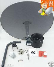 Freesat / Sky 80cm zone 2 satellite dish & quad lnb + 20m RG6 Black install kit