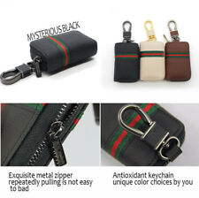 Fashion Style Universal Car Key Cover Holder Organizer Keychain Black PU Leather