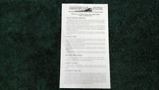 AMERICAN FLYER M2866C WORM DRIVE DIESEL INSTRUCTIONS PHOTOCOPY