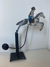 Pendelspielzeug aus Metall Cowboy auf Pferd Höhe ca. 42 cm