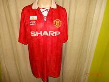 "Manchester United Original umbro Double Meister Trikot 1992-1994 ""SHARP"" Gr.XL"